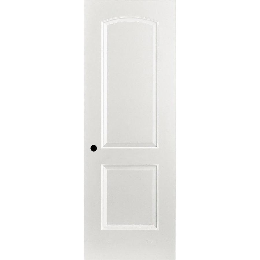 ReliaBilt Prehung Hollow Core 2-Panel Round Top Interior Door (Common: 24-in x 80-in; Actual: 25.375-in x 81.312-in)