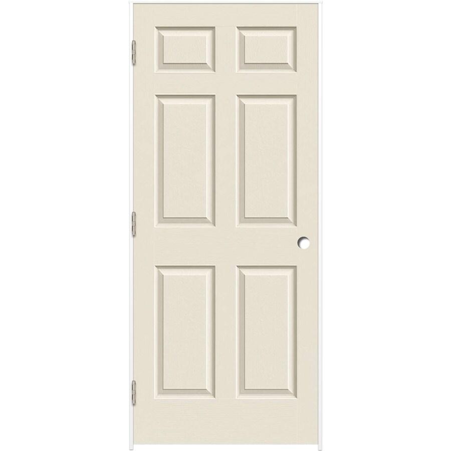 ReliaBilt Prehung Hollow Core 6-Panel Interior Door (Common: 24-in x 80-in; Actual: 25.375-in x 81.312-in)