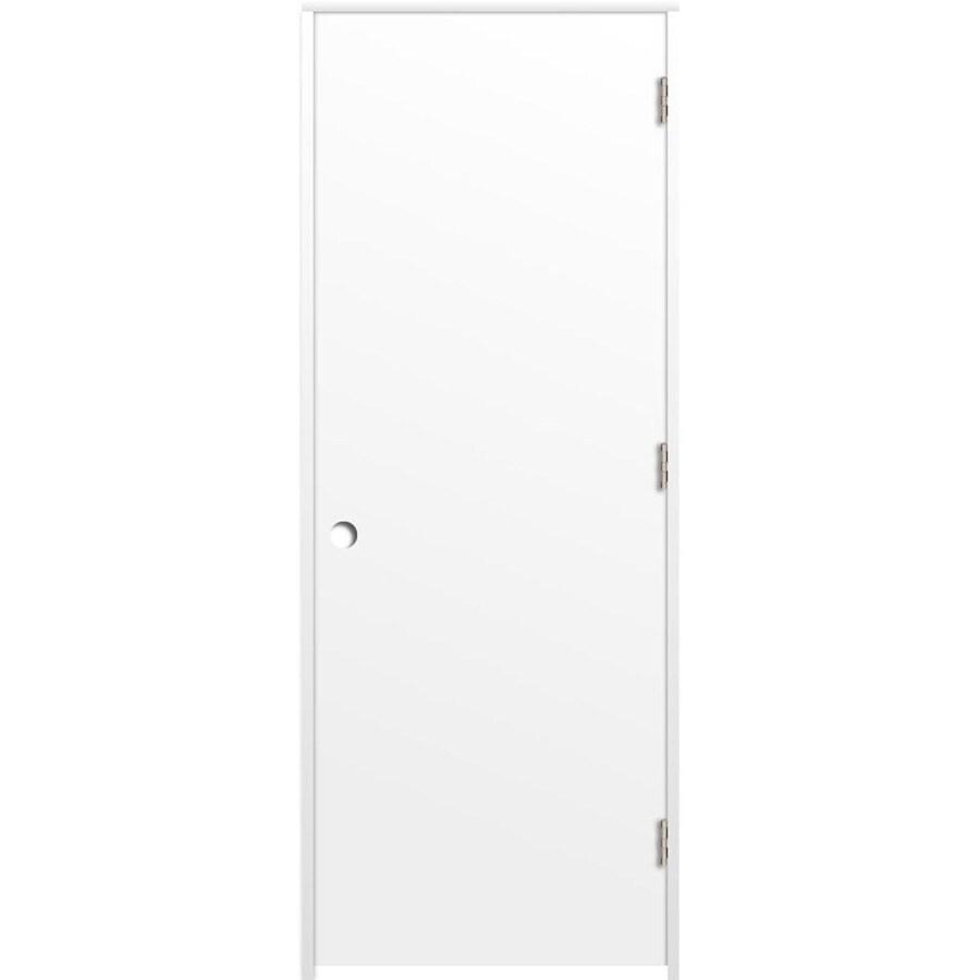 ReliaBilt Prehung Hollow Core Flush Interior Door (Common: 30-in x 80-in; Actual: 31.375-in x 81.312-in)
