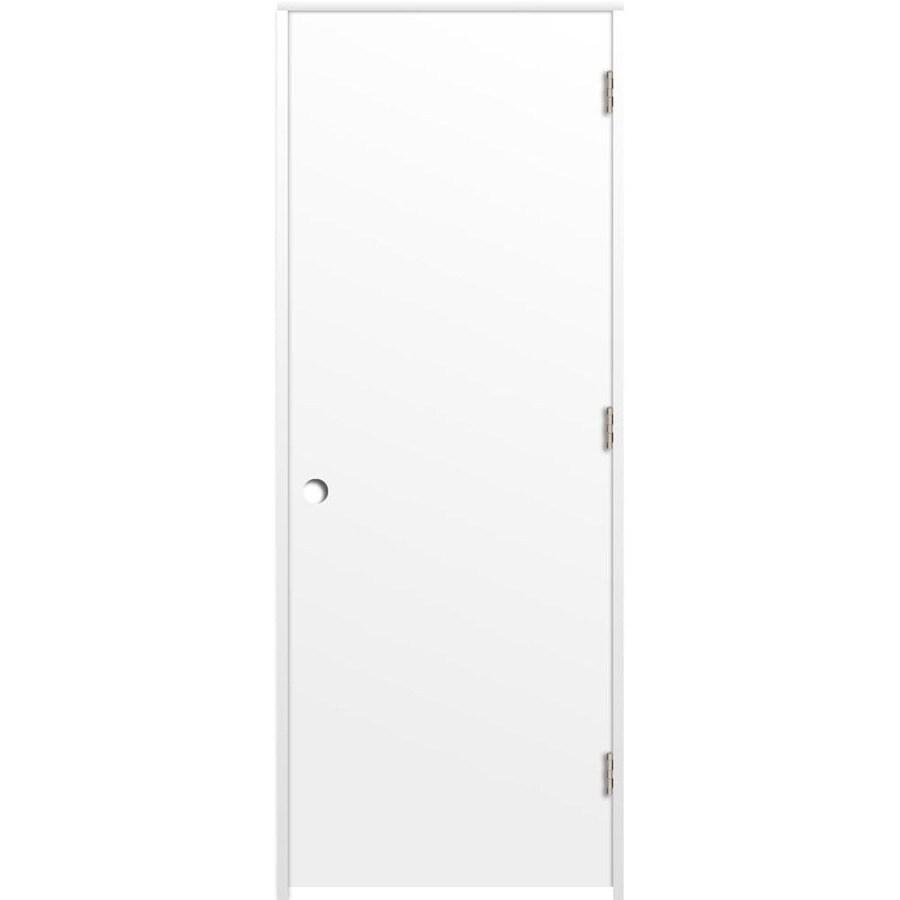 ReliaBilt Prehung Hollow Core Flush Interior Door (Common: 32-in x 80-in; Actual: 33.375-in x 81.312-in)