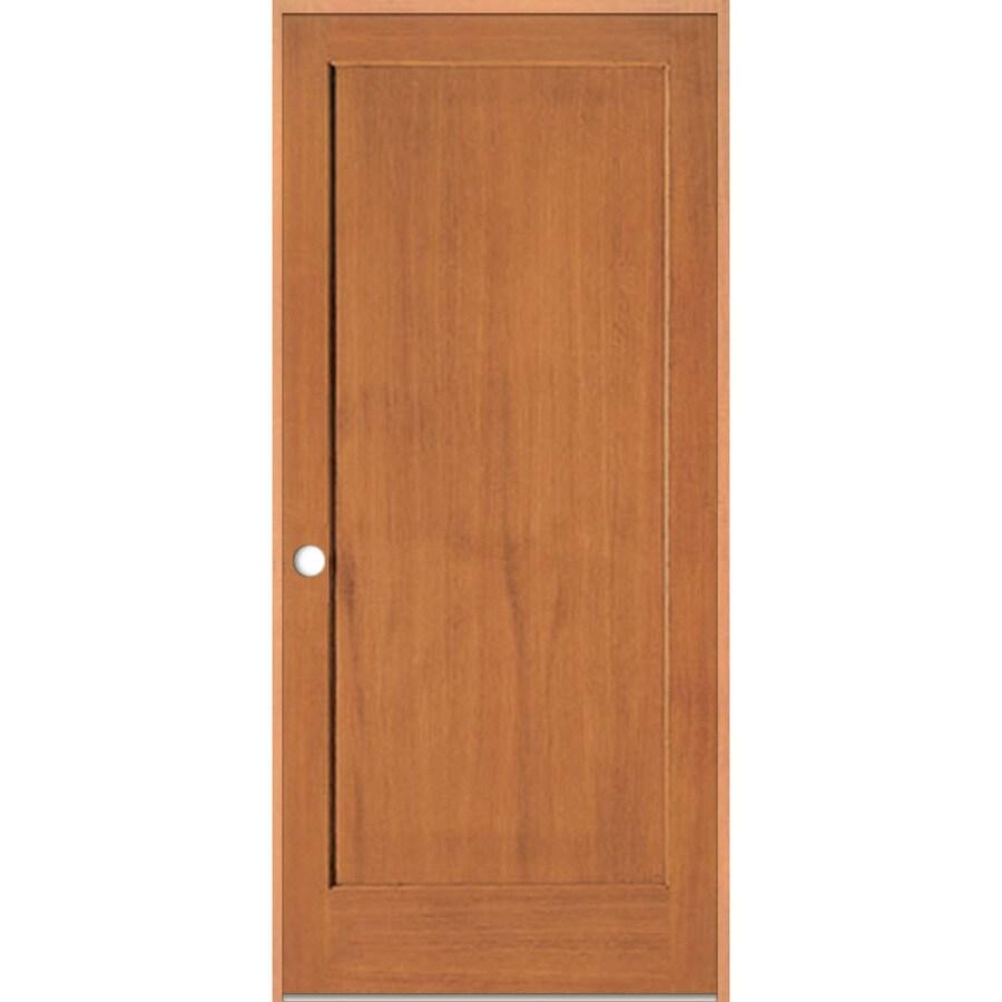 ReliaBilt Prehung Solid Core 1-Panel Fir Interior Door (Common: 24-in x 80-in; Actual: 25.375-in x 81.312-in)