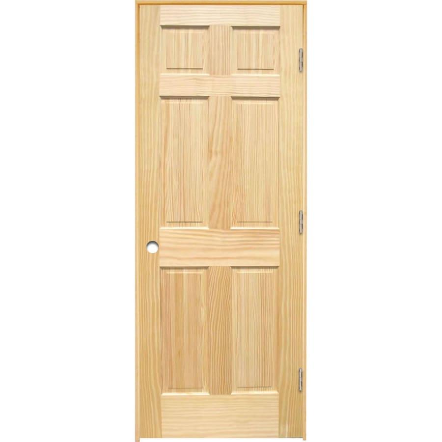 ReliaBilt Prehung Solid Core 6-Panel Pine Interior Door (Common: 30-in x 80-in; Actual: 31.375-in x 81.187-in)