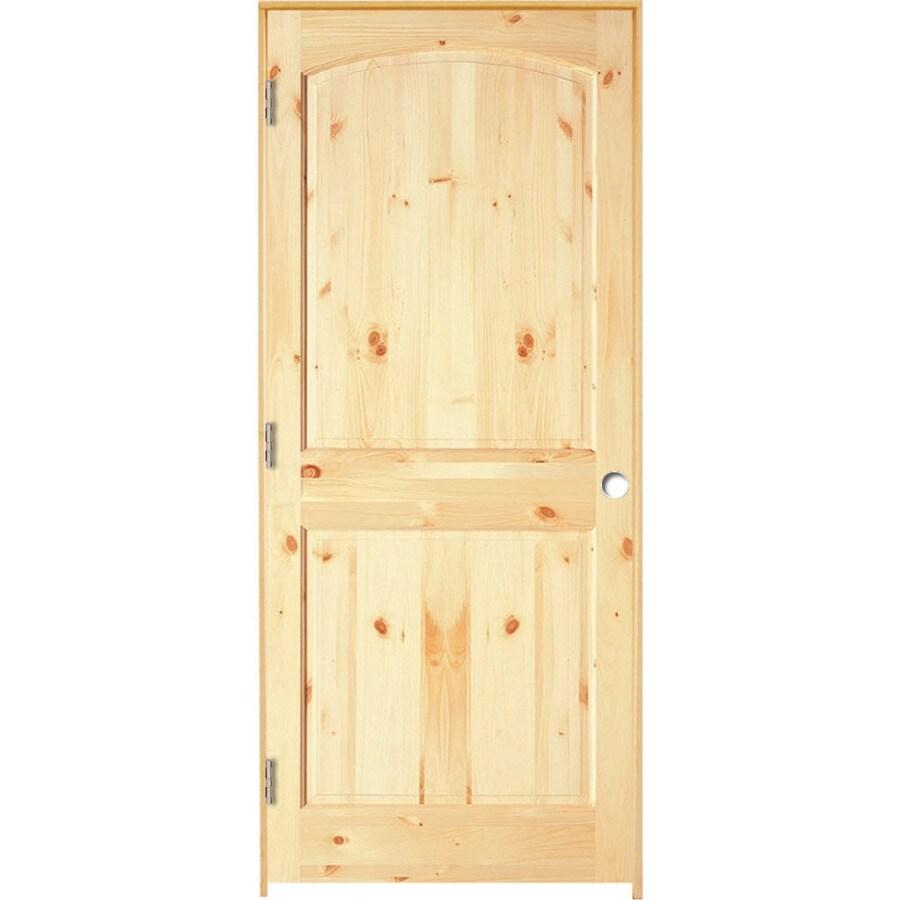 ReliaBilt Prehung Solid Core 2-Panel Arch Top Knotty Pine Interior Door (Common: 28-in x 80-in; Actual: 29.375-in x 81.187-in)