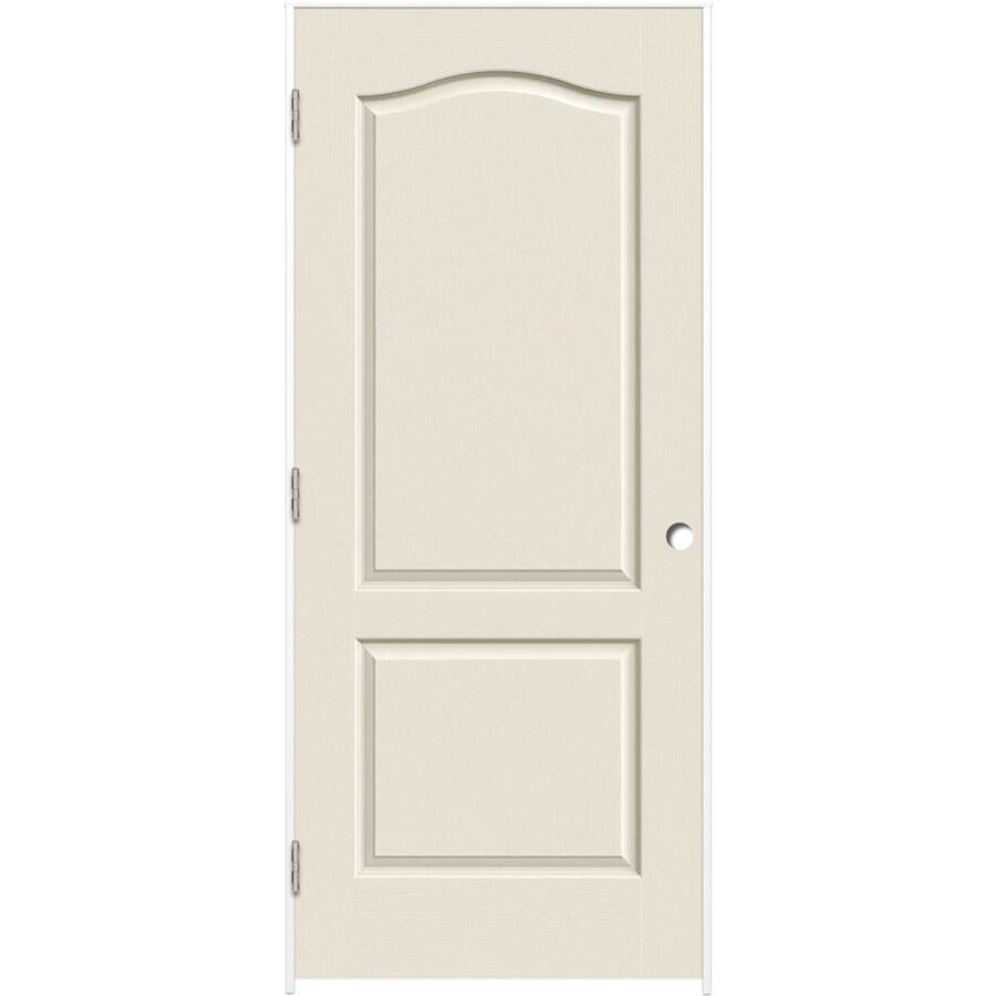 ReliaBilt Prehung Hollow Core 2-Panel Arch Top Interior Door (Common: 32-in x 80-in; Actual: 33.375-in x 81.187-in)