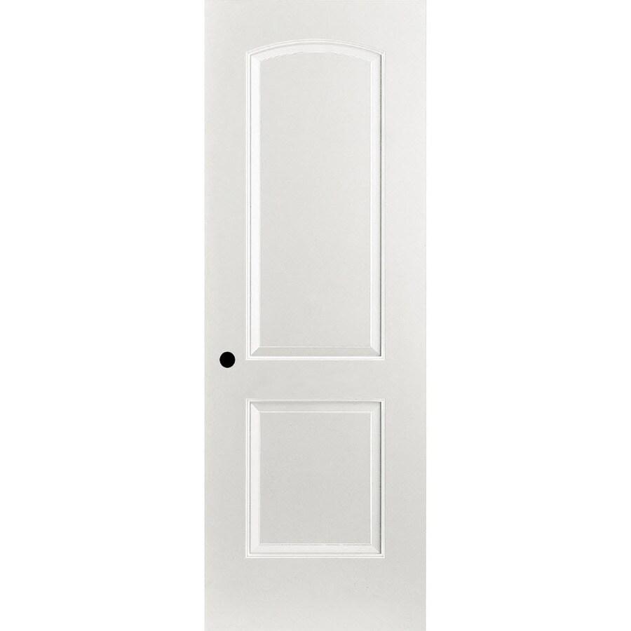 ReliaBilt Prehung Hollow Core 2-Panel Round Top Interior Door (Common: 24-in x 80-in; Actual: 25.375-in x 81.187-in)