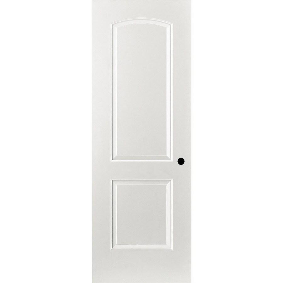 ReliaBilt Prehung Hollow Core 2-Panel Round Top Interior Door (Common: 32-in x 80-in; Actual: 33.375-in x 81.187-in)