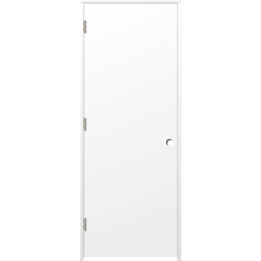 ReliaBilt Prehung Hollow Core Flush Interior Door (Common: 36-in x 80-in; Actual: 37.375-in x 81.187-in)
