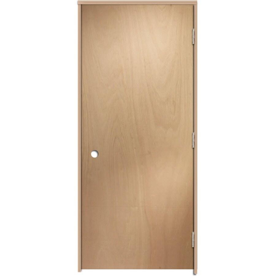 ReliaBilt Prehung Hollow Core Flush Lauan Interior Door (Common: 24-in x 80-in; Actual: 25.375-in x 81.187-in)