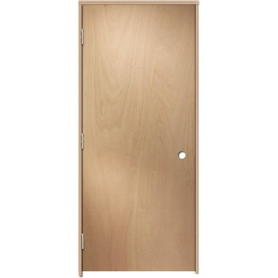 ReliaBilt Prehung Hollow Core Flush Lauan Interior Door (Common: 30-in x 80-in; Actual: 31.375-in x 81.187-in)