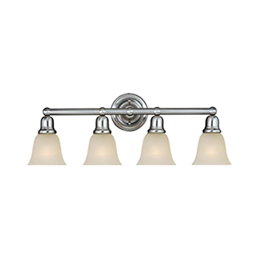 Pyramid Creations Bel Air 4-Light Satin Nickel Bell Vanity Light