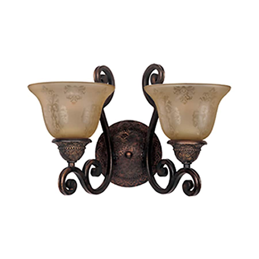 Pyramid Creations Symphony 16-in W 2-Light Bronze Arm Hardwired Wall Sconce