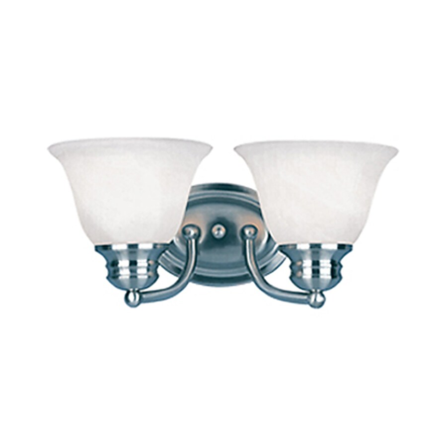 Pyramid Creations Malibu EE 2-Light Satin Nickel Bell Vanity Light