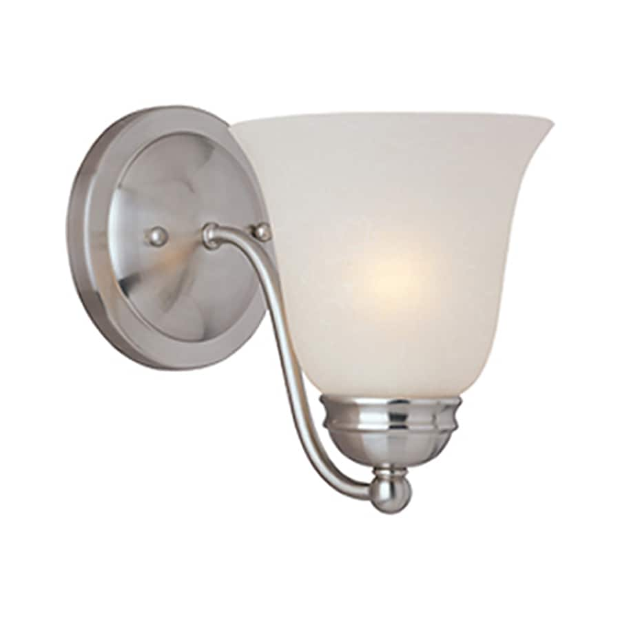 Pyramid Creations Basix Ee 6-in W 1-Light Nickel Arm Hardwired Wall Sconce