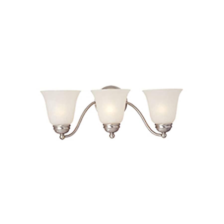 Pyramid Creations Basix EE 3-Light Satin Nickel Bell Vanity Light