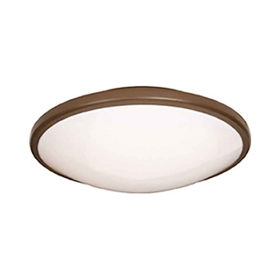 Pyramid Creations 21-in W Oil-Rubbed Bronze Ceiling Flush Mount Light