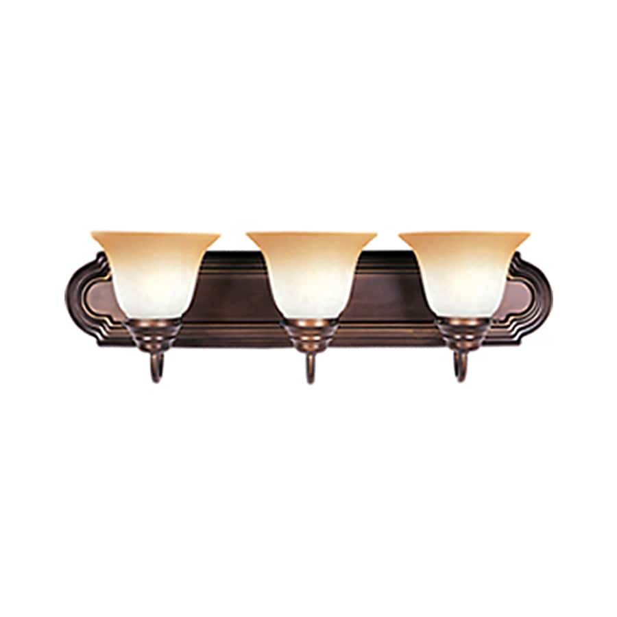 Shop Pyramid Creations Essentialss 3-Light Oil-Rubbed Bronze Vanity Light at Lowes.com