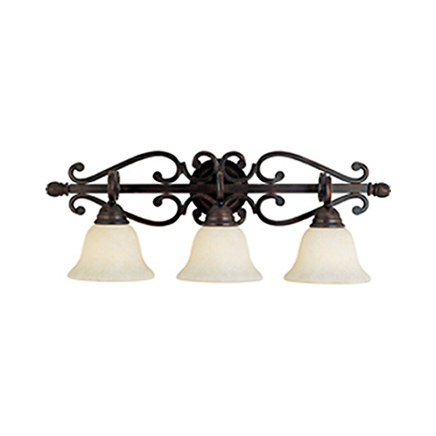 Pyramid Creations Manor 3-Light Oil-Rubbed Bronze Bell Vanity Light