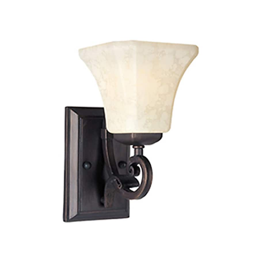 Pyramid Creations Oak Harbor 6-in W 1-Light Arm Hardwired Wall Sconce