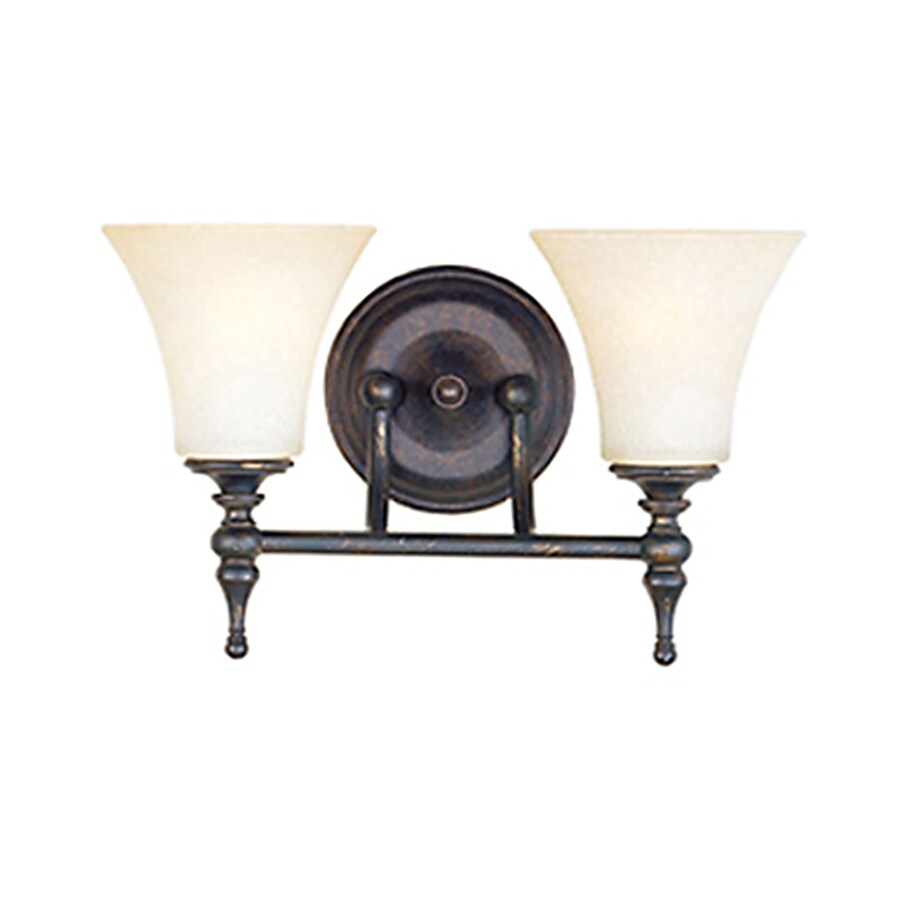 Pyramid Creations Bristol 15.25-in W 2-Light Yellow/Gold Arm Hardwired Wall Sconce
