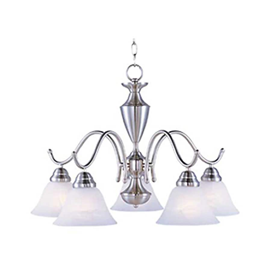 Pyramid Creations Newport 25-in 5-Light Satin Nickel Standard Chandelier