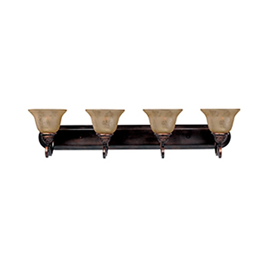 Vanity Lights Oil Rubbed Bronze : Shop Pyramid Creations 4-Light Symphony Oil-Rubbed Bronze Bathroom Vanity Light at Lowes.com