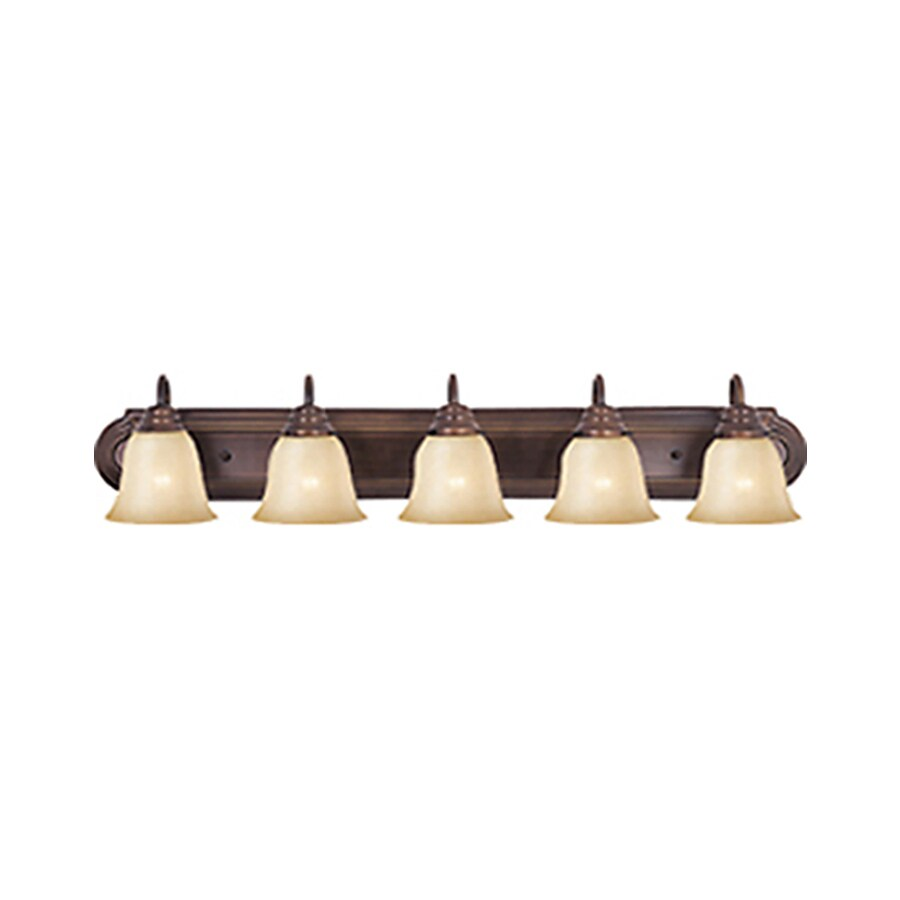Shop Pyramid Creations Essentialss 5 Light Oil Rubbed Bronze Vanity Light At
