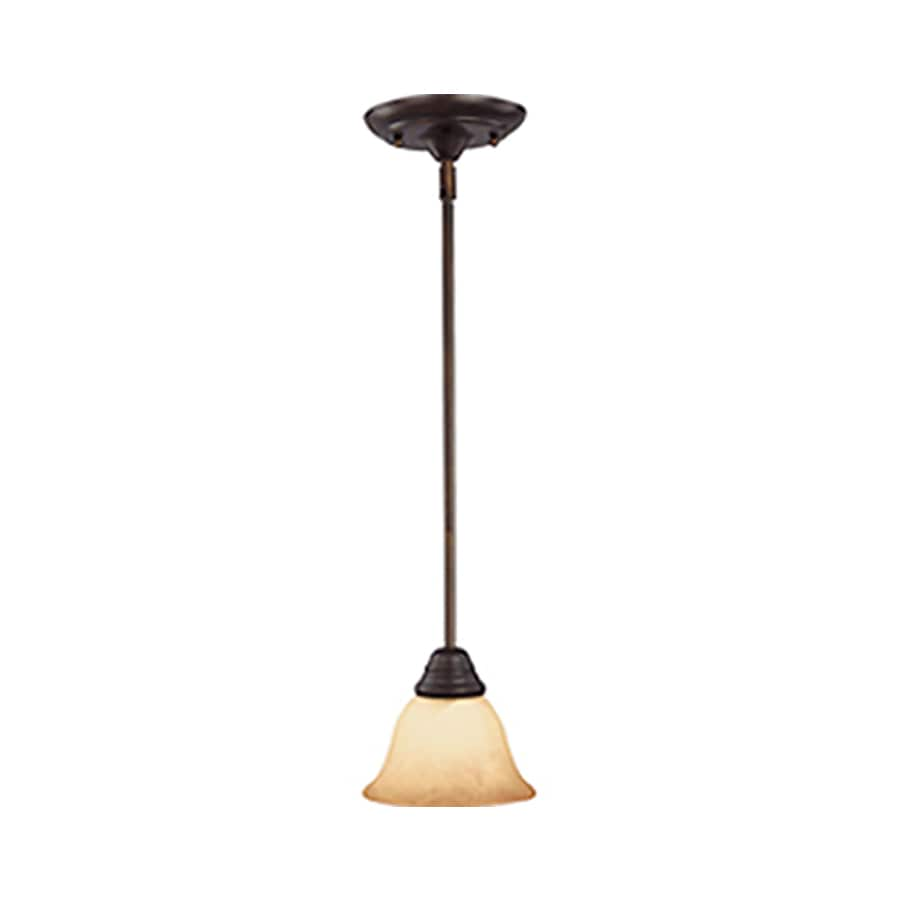 Pyramid Creations Basix EE 6-in W Bronze Pendant Light ENERGY STAR
