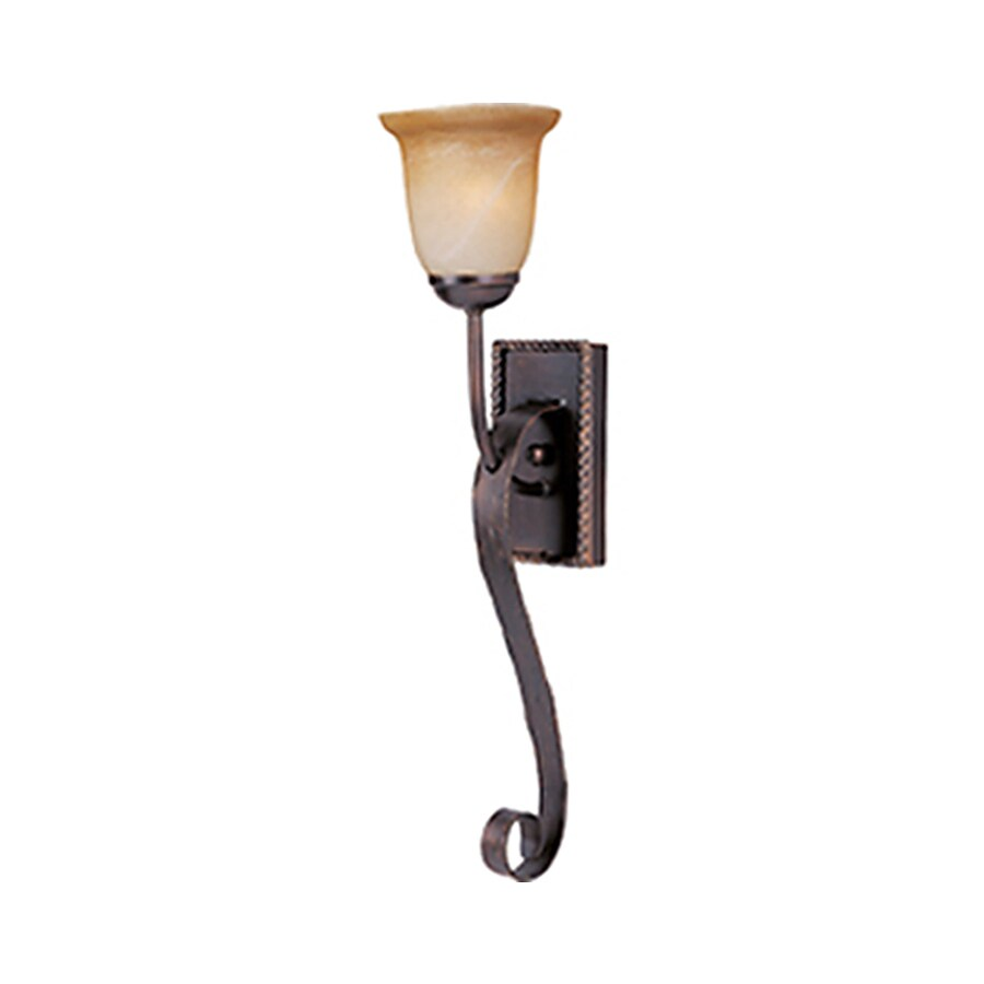 Pyramid Creations Aspen 6-in W 1-Light Bronze Arm Hardwired Wall Sconce
