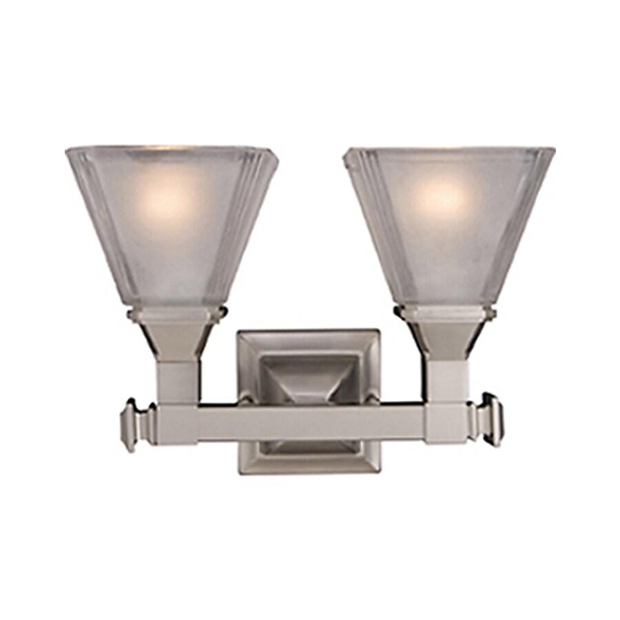 Pyramid Creations Brentwood 2-Light Satin Nickel Cone Vanity Light