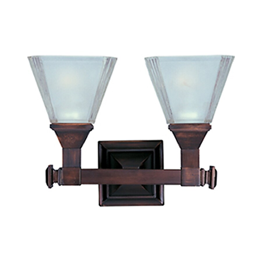 Pyramid Creations Brentwood 2-Light Oil-Rubbed Bronze Cone Vanity Light