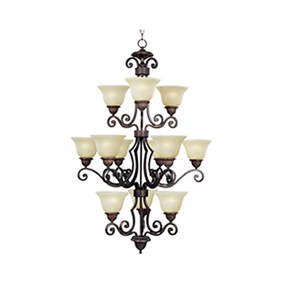 Pyramid Creations Symphony 30-in 12-Light Oil-Rubbed Bronze Standard Chandelier