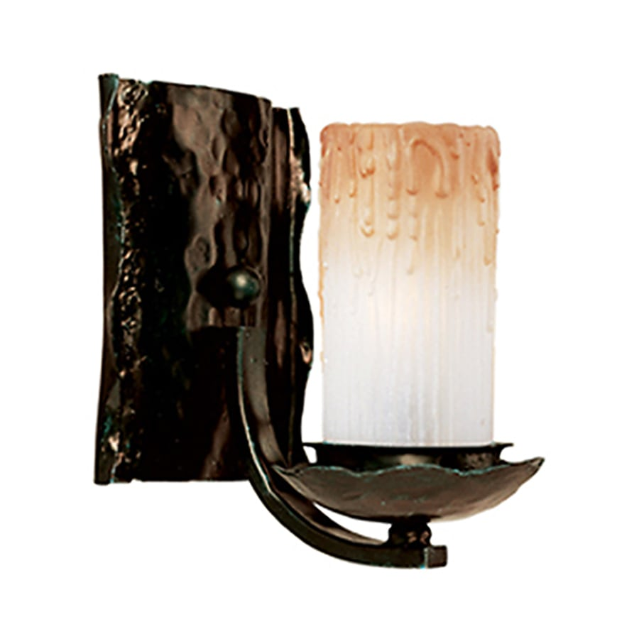 Pyramid Creations Notre Dame 7.5-in W 1-Light Bronze Arm Hardwired Wall Sconce