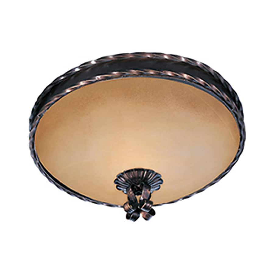 Pyramid Creations 13-in W Oil-Rubbed Bronze Ceiling Flush Mount Light