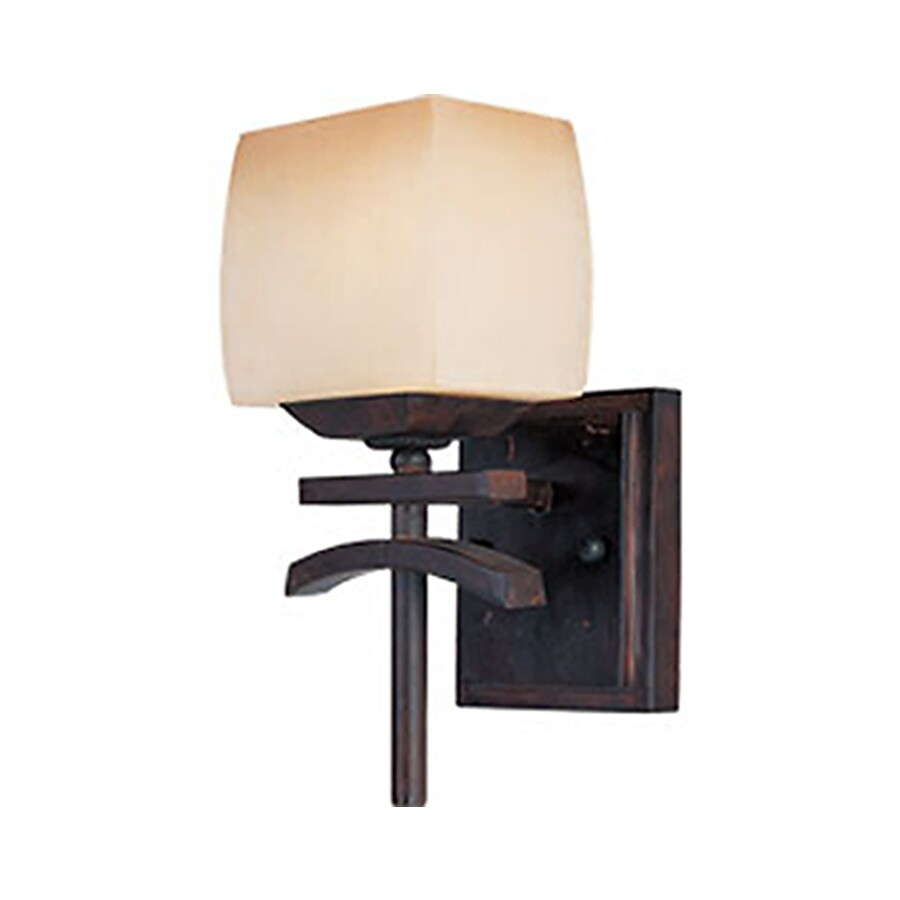 Pyramid Creations Asiana 5.5-in W 1-Light Arm Hardwired Wall Sconce