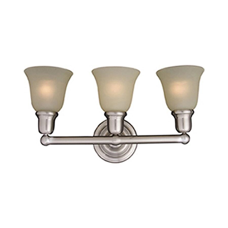 Pyramid Creations Bel Air 3-Light Satin Nickel Bell Vanity Light