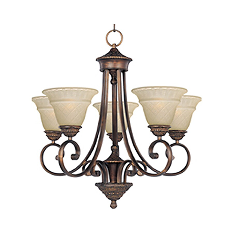 Pyramid Creations Brighton 25.5-in 5-Light Oil-Rubbed Bronze Standard Chandelier