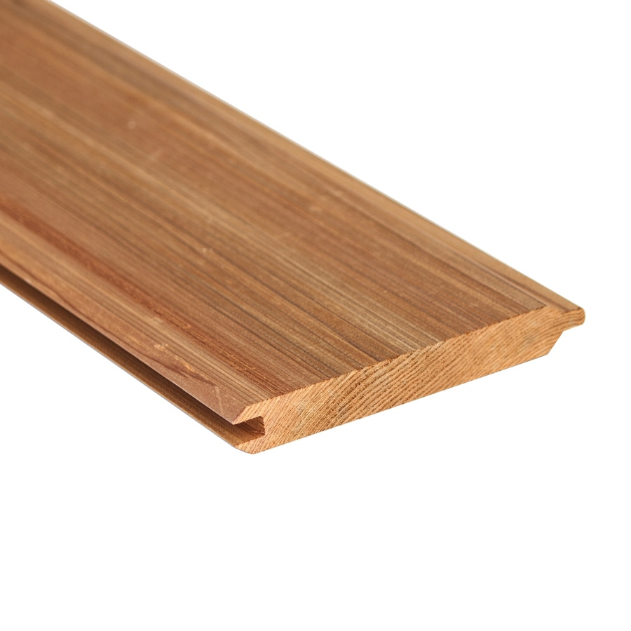 TriPro Tongue and Groove Pattern Stock Cedar Board (Common: 1-in x 6-in x 12-ft; Actual: 0.6562-in x 5.5-in x 12-ft)