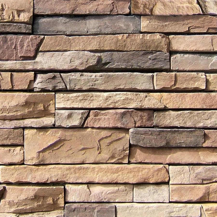 Shop Coronado 8 Sq Ft Carmel Mountain Faux Stone Stone