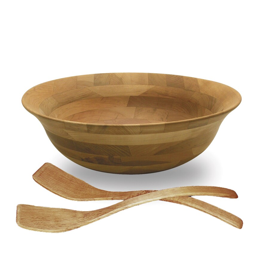 Snow River Products 5-in x 14-in Cherry Not Divided Wood Round Serving Platter
