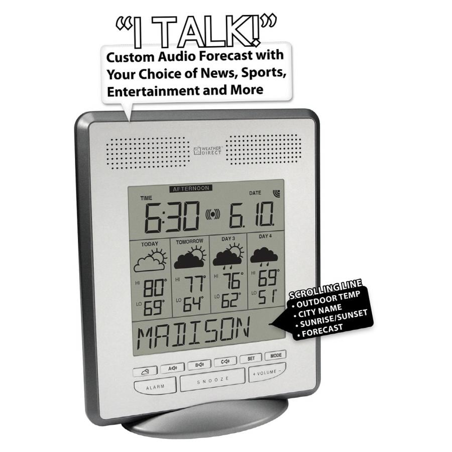 "La Crosse Technology Weather Direct 4 Day Internet-Powered ""Talking"" Weather Station"