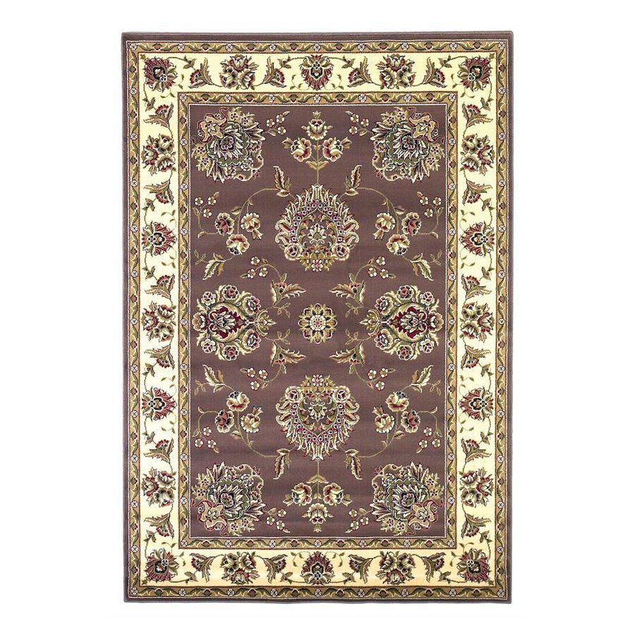 KAS Rugs Mahal Purple Rectangular Indoor Woven Oriental Area Rug (Common: 5 x 8; Actual: 63-in W x 91-in L)