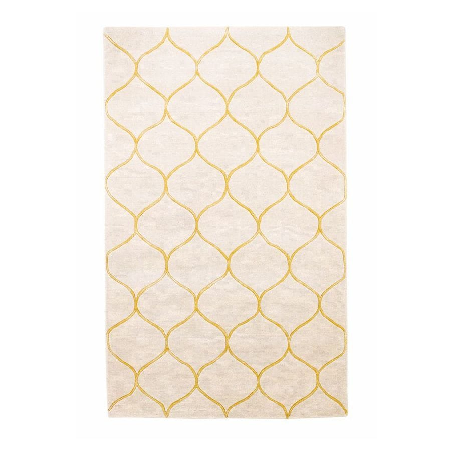 KAS Rugs Shimmering Treasures Ivory Rectangular Indoor Tufted Throw Rug (Common: 3 x 5; Actual: 39-in W x 63-in L)