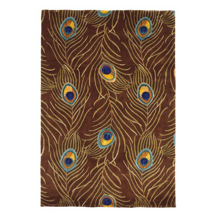KAS Rugs Elegant Florals Brown Rectangular Indoor Tufted Area Rug (Common: 8 x 11; Actual: 96-in W x 126-in L)