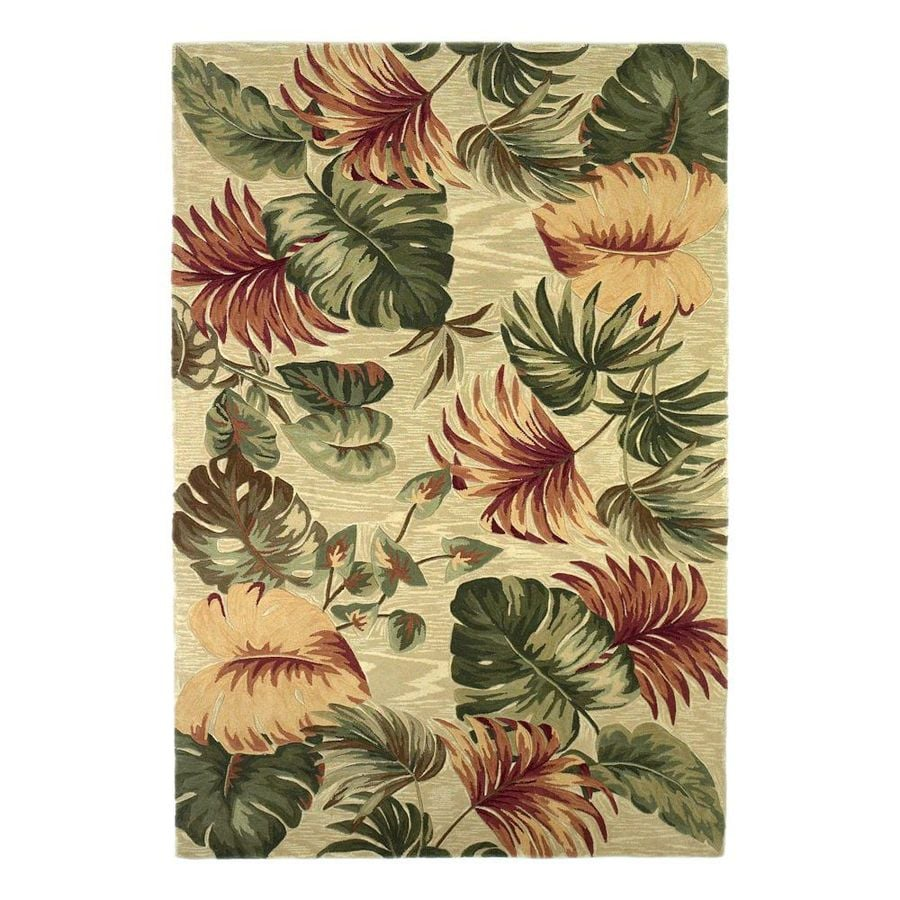 Shop KAS Rugs Floral Trends Ivory Rectangular Indoor