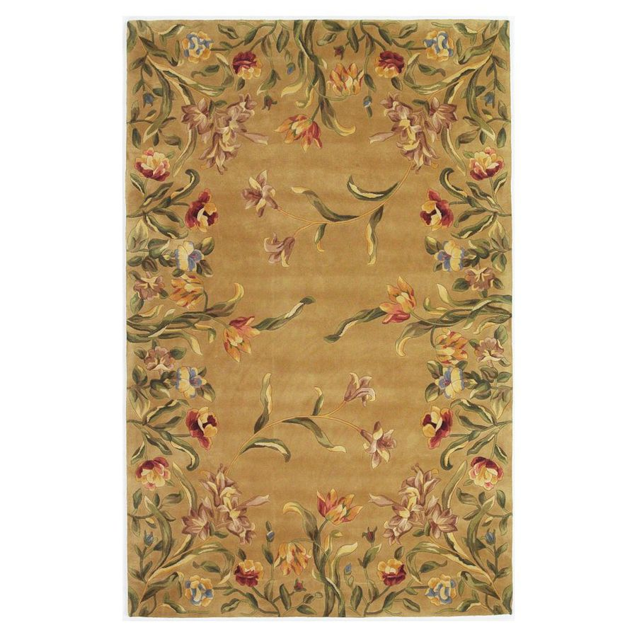 KAS Rugs Far East Gem Brown Rectangular Indoor Tufted Area Rug (Common: 8 x 11; Actual: 96-in W x 132-in L)