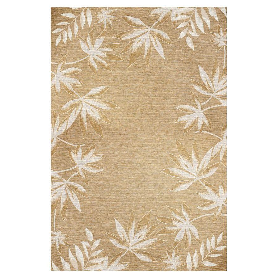 KAS Rugs Serenity Brown Rectangular Indoor Outdoor Woven Area Rug (Common: 8 x 11; Actual: 97-in W x 134-in L)