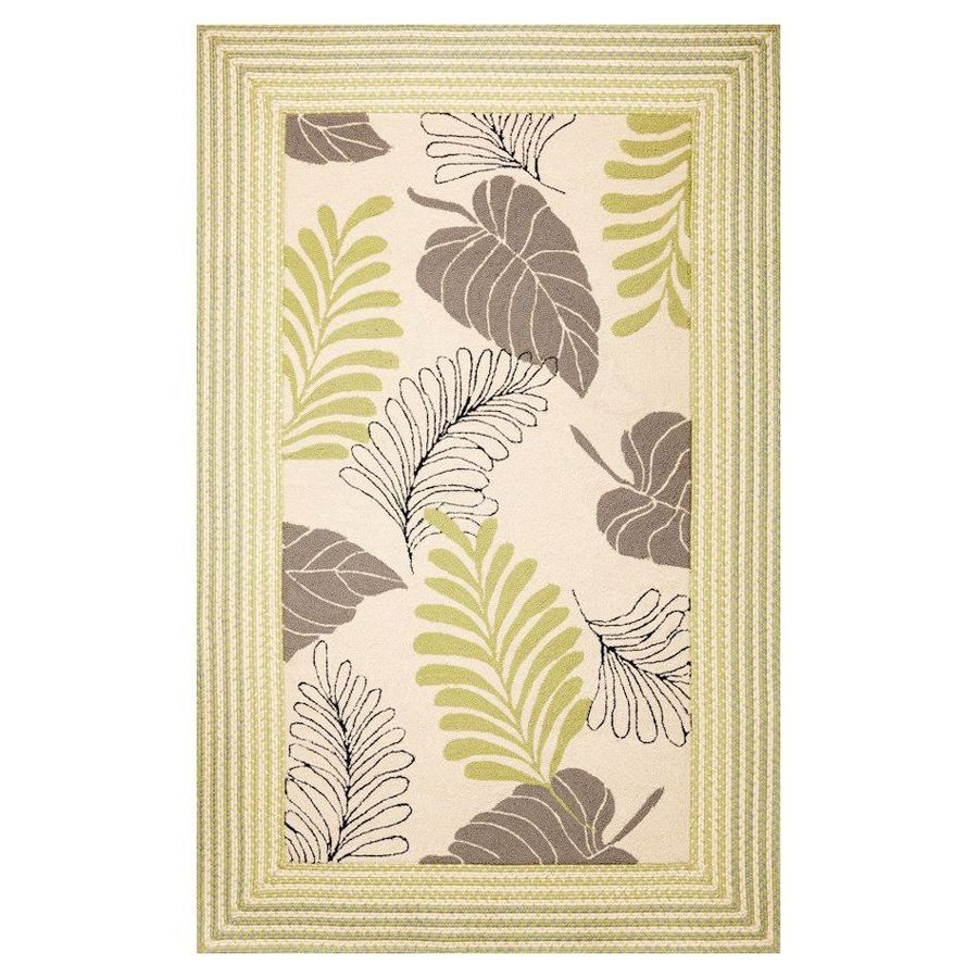 KAS Rugs Shabby Chic Rectangular Indoor and Outdoor Hand-Hooked Area Rug (Common: 8 x 10; Actual: 90-in W x 114-in L)