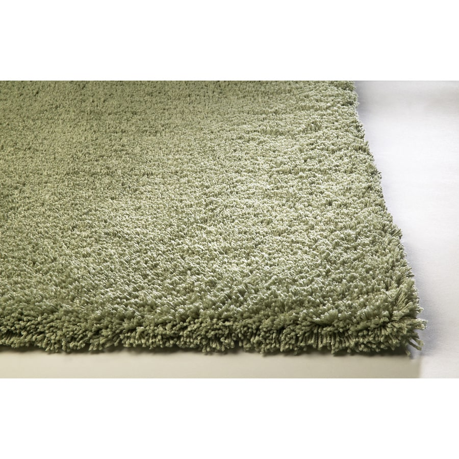 Sofia Green Rectangular Indoor Shag Throw Rug (Common: 2 x 4; Actual: 27-in W x 45-in L)