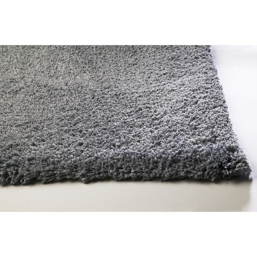 Sofia Gray Rectangular Indoor Shag Throw Rug (Common: 2 x 4; Actual: 27-in W x 45-in L)