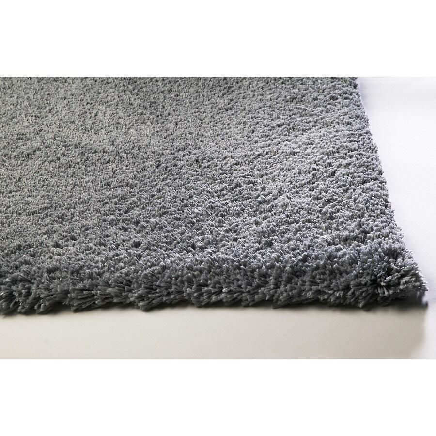 Sofia Gray Rectangular Indoor Shag Area Rug (Common: 5 x 8; Actual: 60-in W x 84-in L)